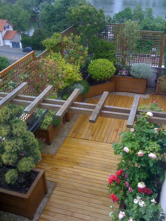 Am nagement terrasse cergy pontoise am nagement paysager for Cout amenagement jardin